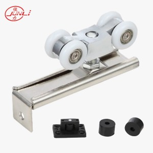 JL-015 Aluminum Body 4 Wheels Wooden Door Sliding Rollers