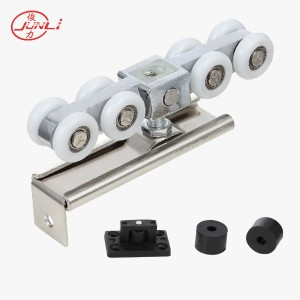 JL-016 Aluminum Body 8 Wheels Wooden Door Sliding Fittings