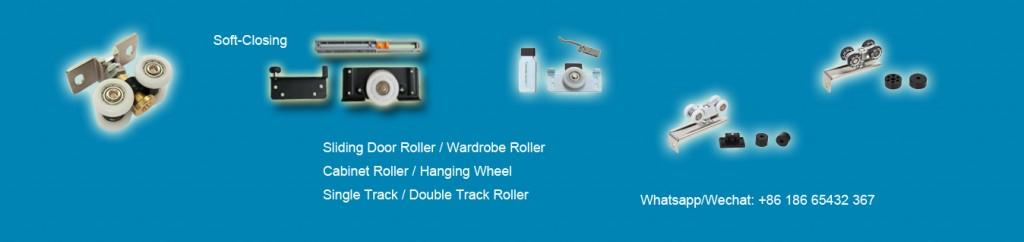 Wardrobe double track roller