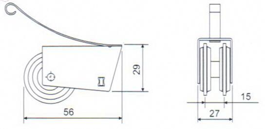 JL-06 Heavy-duty Double Wheels Cabinet Roller- big size
