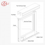 Aluminum Profile and Track for Sliding Wardrobe Door System