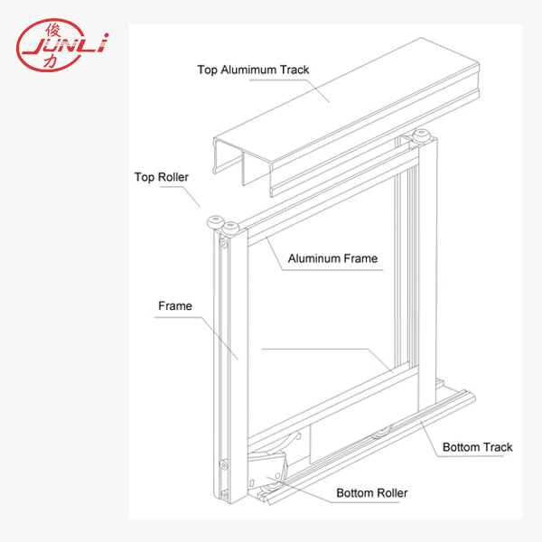 A-007 Aluminum Profile and Track for Sliding Wardrobe Door System